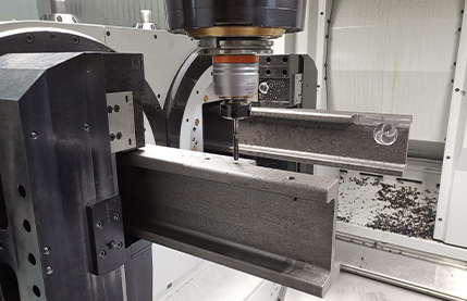 Safety in forklift mast channel machining