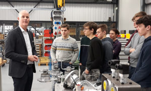 Technical students from TISM Belgium on Unisign factory tour